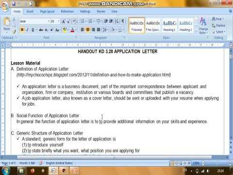 Materi Bahasa Inggris Smk Kelas Xii Application Letter Example Part 1 Youtube