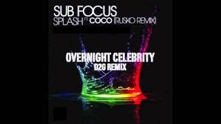 Overnight Celebrity [Kanye West ft. Twista] + Splash ft. Coco (Rusko Remix) Mashup