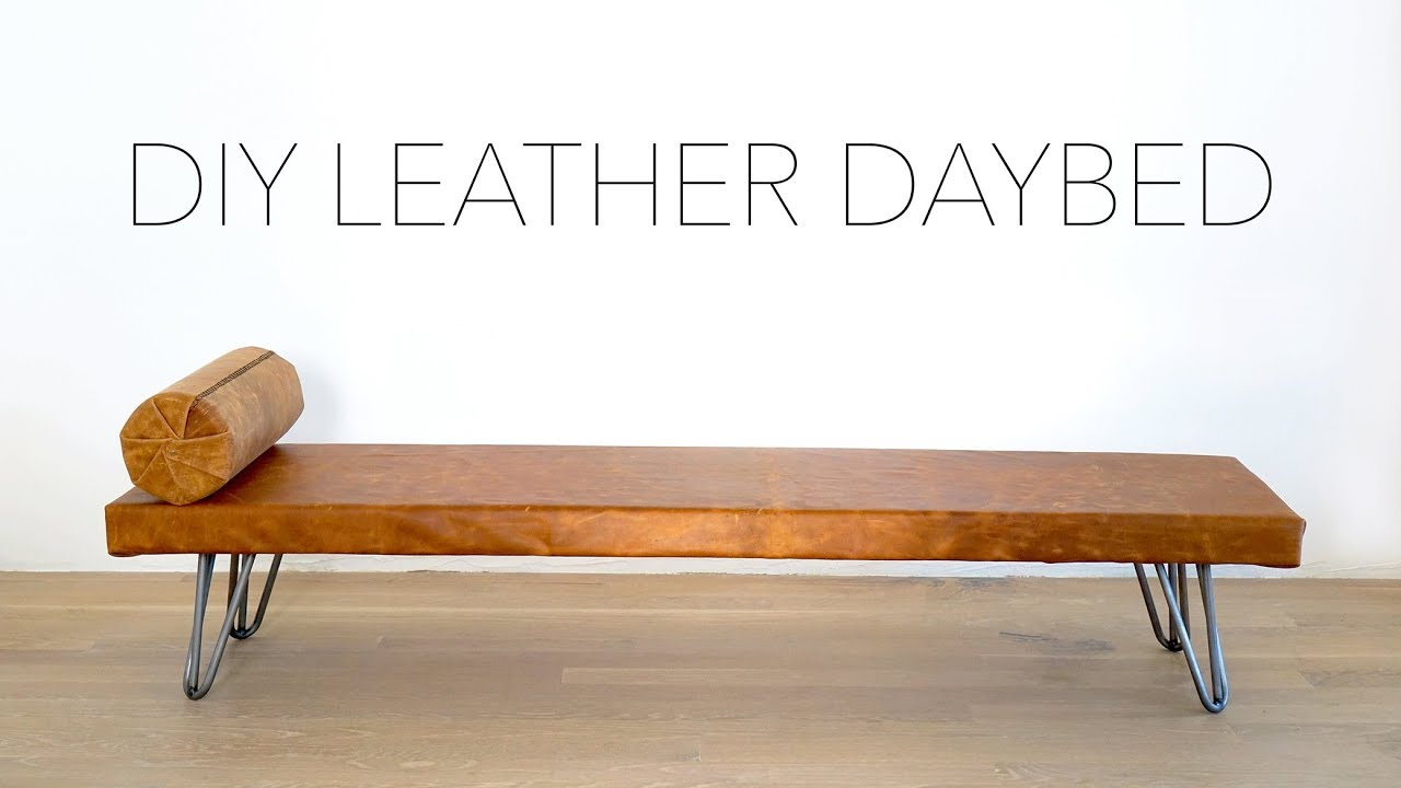 DIY Leather Daybed   YouTube