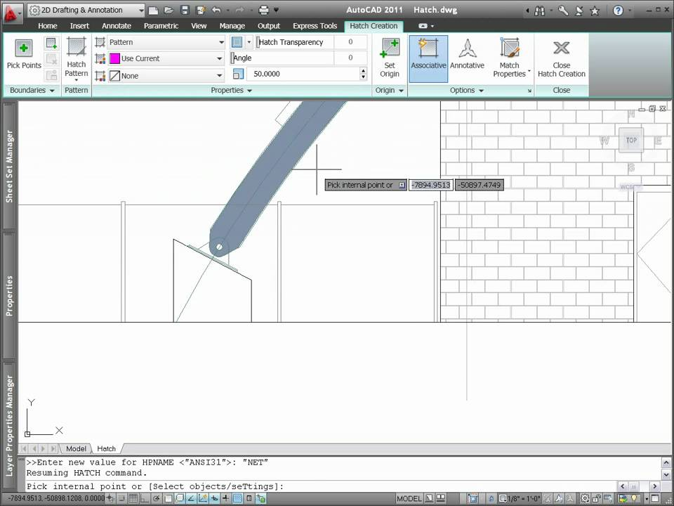 AutoCAD 2011 Hatch Creation and Editing