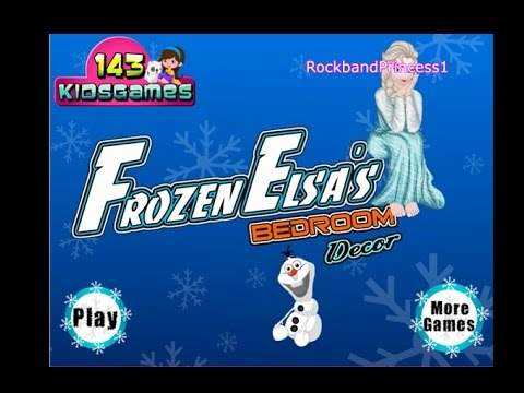 Frozen Room Decor Games Online Free Youtube