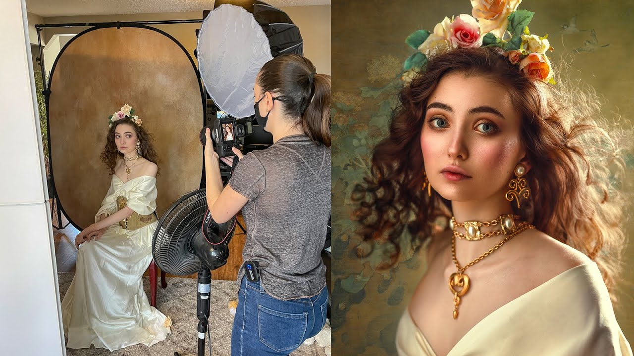 Creative Portraits using 1 Flash in Small Home Studio, Behind The Scenes -  YouTube
