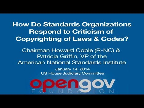 American National Standards Institute Response to Copyrighted Law Criticism