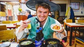 Galbitang (갈비탕): Korean Food + Visiting Gyeongbokgung Palace (경복궁) wearing Hanbok in Seoul, Korea