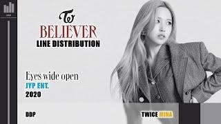 TWICE (트와이스) - BELIEVER (Line Distribution)