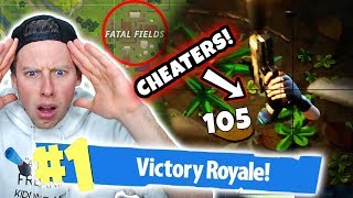 SNIPING UNDERGROUND CHEATERS in FORTNITE BATTLE ROYALE!