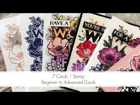 Mediums? Paper? Which Black Ink? 7 Cards, 1 Stamp video!