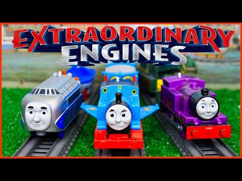 THOMAS AND FRIENDS EXTRAORDINARY ENGINES COMPILATION TRACKMASTER WINGED THOMAS HUGO RYAN TOY TRAINS