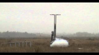 Start rakiety Amelinium na paliwo stałe