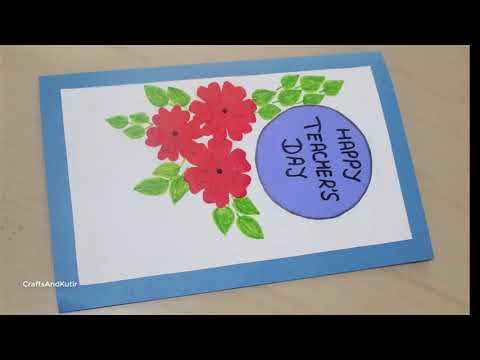 DIY - Teacher's Day Card / Handmade Teacher's Day Card Making Idea
