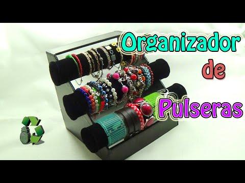Manualidades Organizador de Pulseras (Reciclaje de tubos de cartón)  Ecobrisa