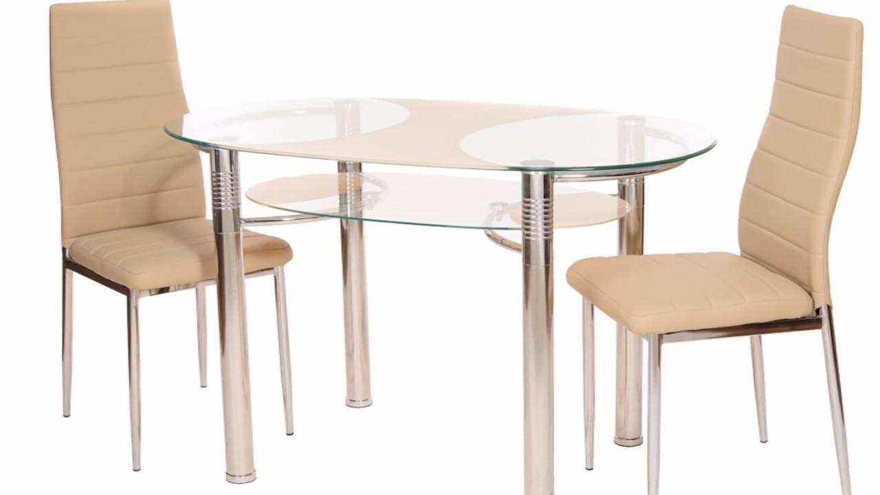 Стол обеденный Черри, красный. Раскладной, раздвижной стол. - YouTube