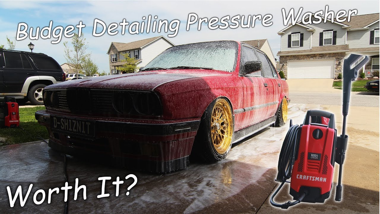 Budget Detailer Craftsman 1600 Psi Electric Pressure Washer Unboxing/Review