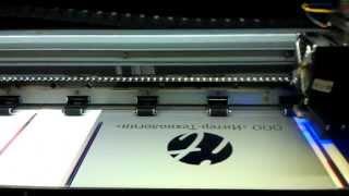 видео УФ печать на металле