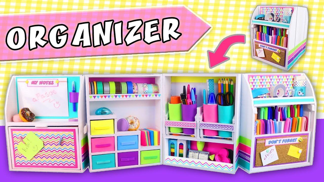 Desktop organizer diy expandable from cardboard back to school apasos crafts diy youtube - Imagenes de muebles de carton ...