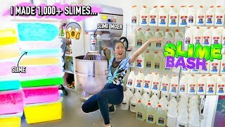 Restock My Slime Shop with me for SLIME BASH! i made 1,000+ slimes!)😱😱