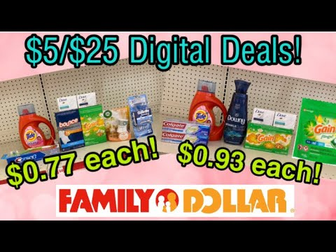Family Dollar Haul $5/$25! I All Digital Deals I 10/11-17/2020