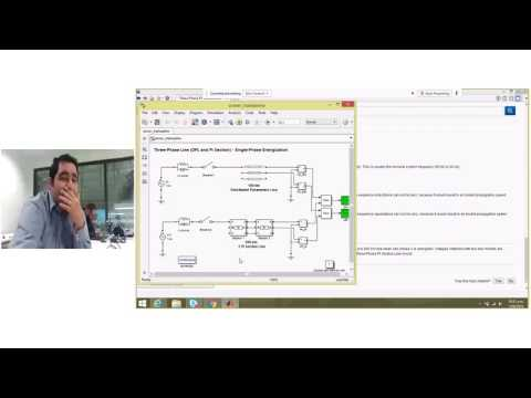 Simscape power system simulation