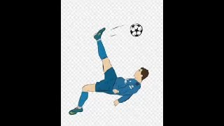 DIBUJANDO LA CHILENA DE CR7 - Speed Drawing