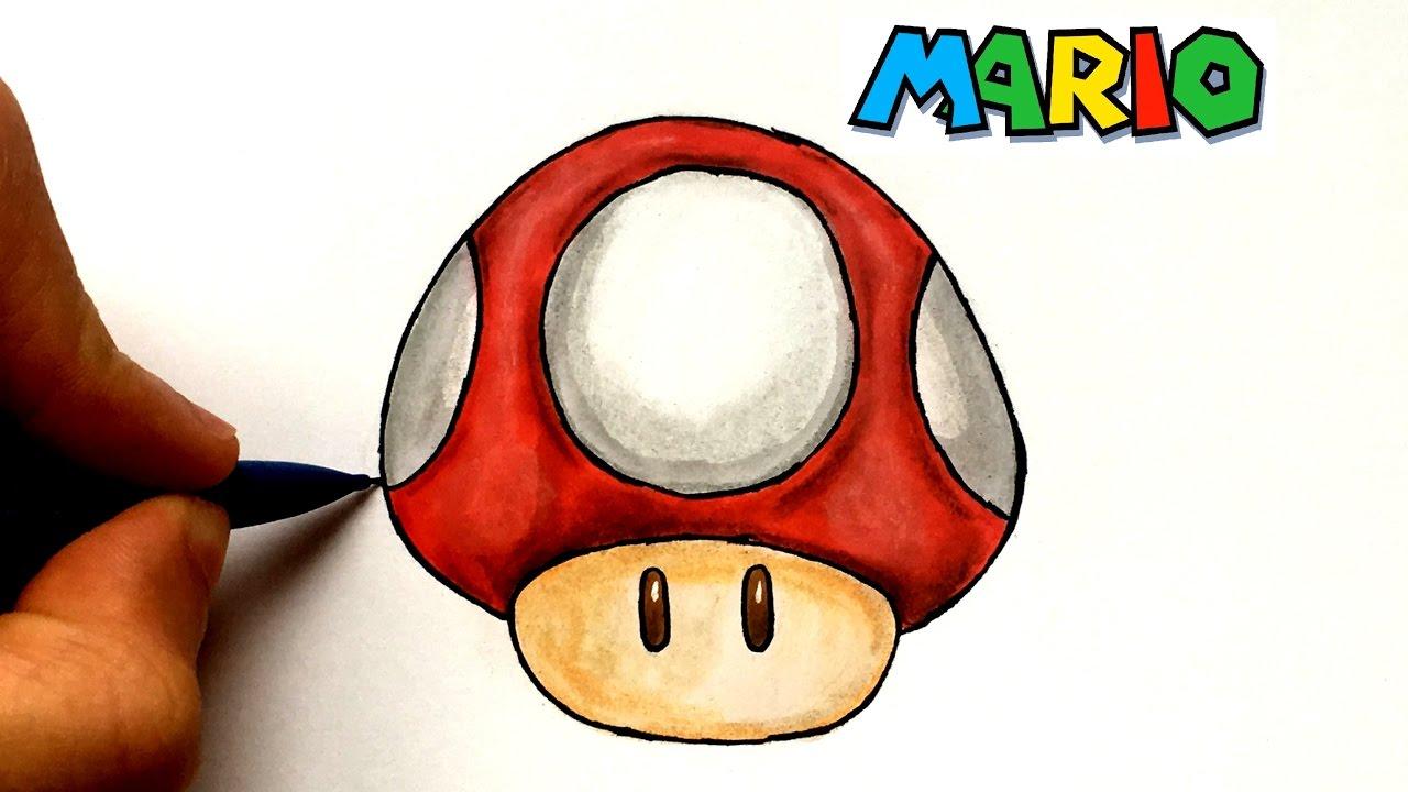 Dessin Champignon Mario Youtube