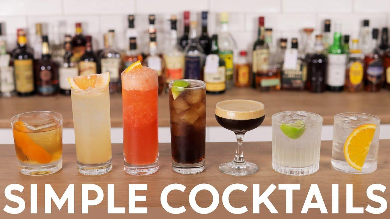 7 x Super Simple 2-ingredient Cocktails!
