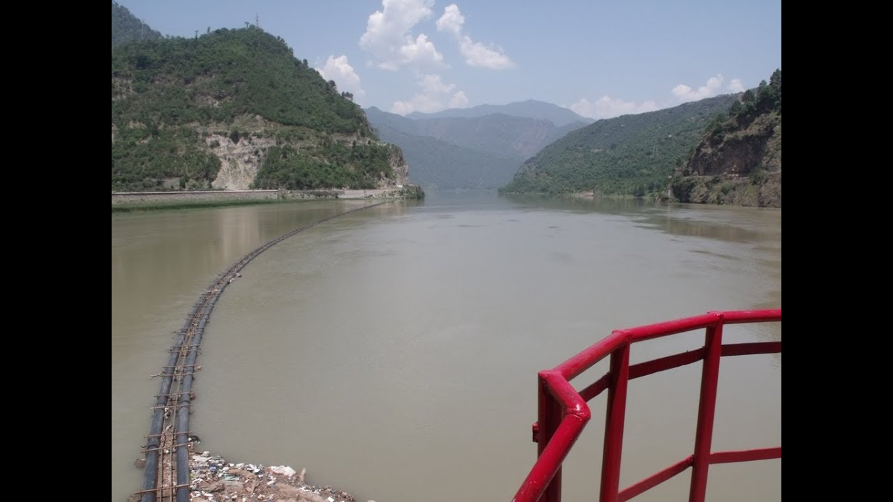 Salal Hydroelectric Power Station On River Chenab Jammu And Kashmir