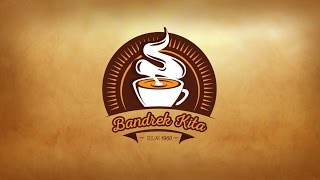 Adobe Illustrator - Coffee Vintage Logo Design Speedart
