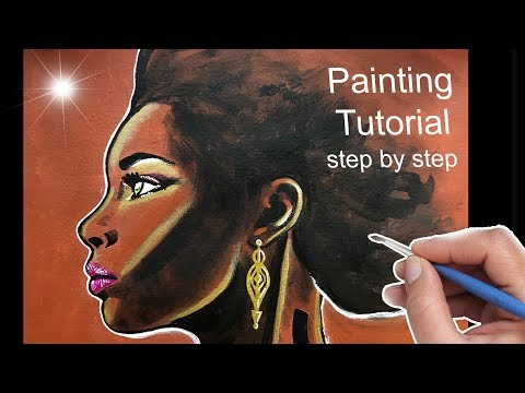 AFRICAN WOMAN Painting Tutorial, How To Paint Woman´s Face
