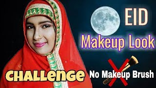 Full Face Using Only My Fingers [No Brushes] Eid Makeup Challenge