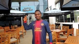 Winner Barcelona Signed T-Shirt @ the DUBAI INDOOR FOOTBALL CHAMPIONSHIP 2013
