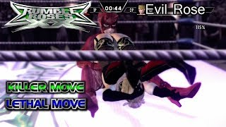 Rumble Roses XX Evil Rose (Killer & Lethal Move)