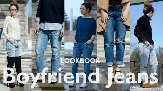Atuendos usando Boyfriend Jeans / Lookbook  / ♥ Andrea ♥
