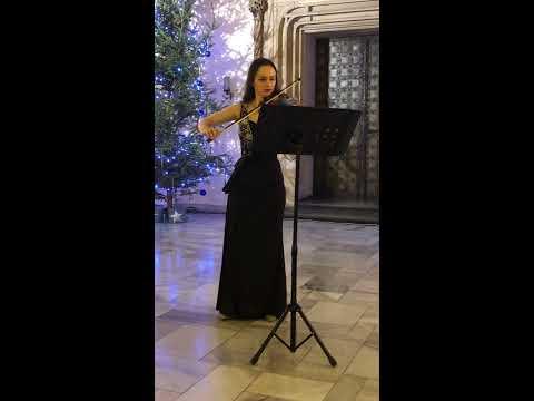 "Violinist, Kinga Augustyn performing ""Frost Vapors"""