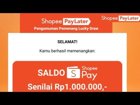 Pemenang Hadiah Bonus Shopeepay Shopeepay Letter Jutaan Rupiah