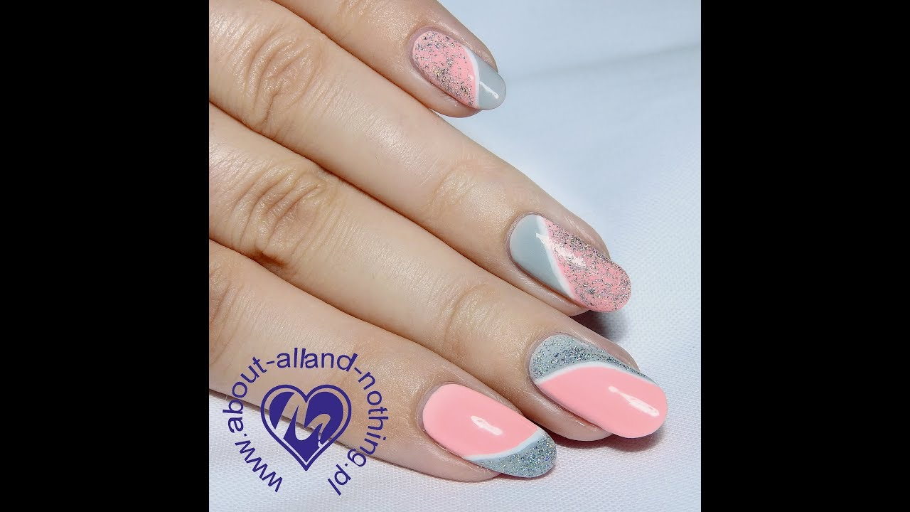 Proste Wzorki Asymetryczne Zdobienie Simple Nail Art