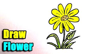 How to Draw a Flower - Step by Step and super easy