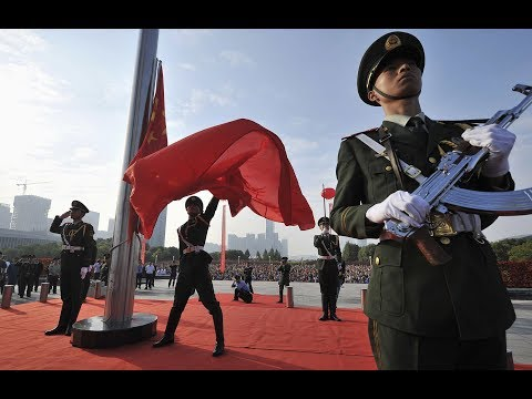 China Military Parade 2015 - National Flag Raising Ceremony