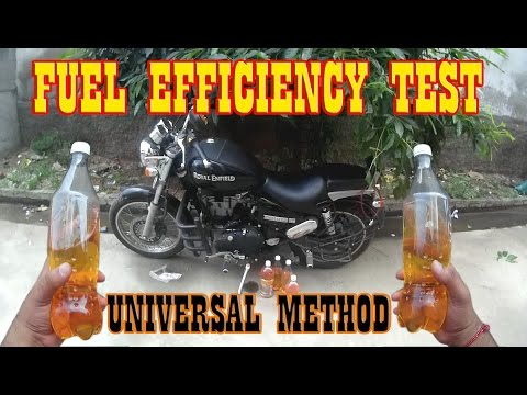 Royal Enfield Thunder Bird Mileage Test/Fuel Efficiency/Fuel Consumption/Universal  Method