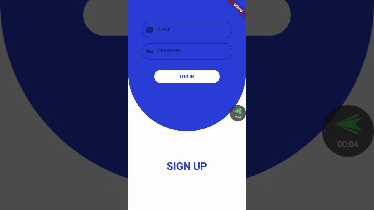 Flutter - Sliding login & register page