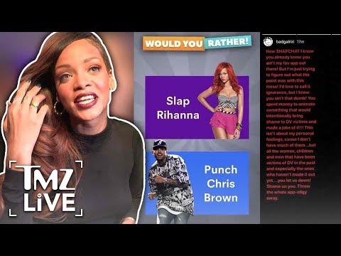 Rihanna Attacks Snapchat! | TMZ Live