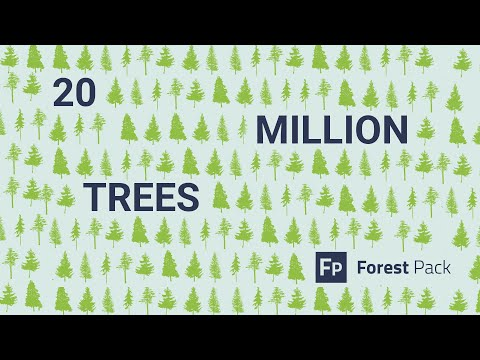 DEMO: 20 Million Trees With Forest Pack Pro