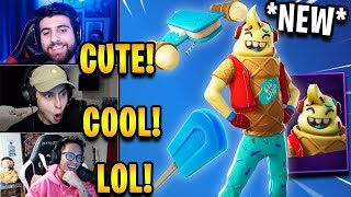 "Streamers React to *NEW* ""Lil Whip"" Skin + ""Ice Pop"" Pickaxe & ""Ice Cream Cruiser"" Glider!"