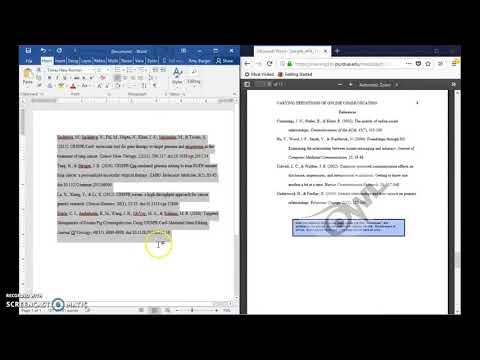 How to format apa reference list in word