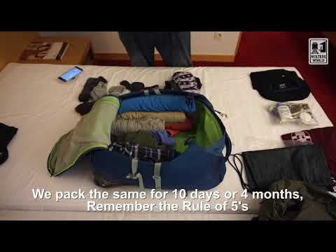 Packing Hack: The Rule of 5's for 2 Weeks or 2 Months Away