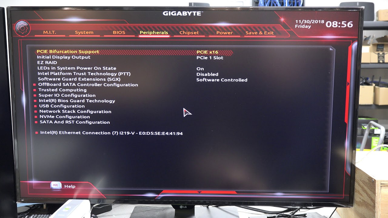 Enabling on-board graphics on a gigabyte board when a GPU is installed