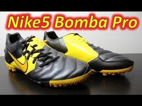 new concept 57645 a15ef Nike5 Bomba Pro Turf Black Yellow - Unboxing + On Feet - YouTube