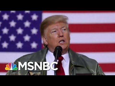 President Donald Trump Turns Visit With Troops Into Political Rally | Hardball | MSNBC