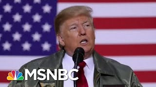 President Donald Trump Turns Visit With Troops Into Political Rally   Hardball   MSNBC