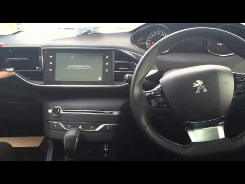 peugeot 308 with mirror link system and dvd player youtube. Black Bedroom Furniture Sets. Home Design Ideas