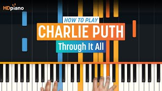 """How To Play """"Through It All"""" by Charlie Puth 